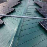 太陽光パネルを設置しているカラーベスト屋根の塗装・サイディングの外壁塗装 加古川市F様邸(ミサワホーム築22年)
