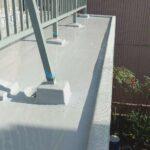 ベランダのウレタン防水(通気緩衝工法)・水切り取り付け 高砂市Y様邸
